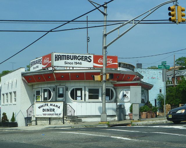 White Mana Diner - Jersey City, NJ -  by R36 Coach, via Flickr
