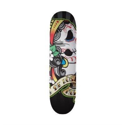 Dia de los Muertos Skate Board from http://www.zazzle.com/dia+de+los+muertos+skateboards