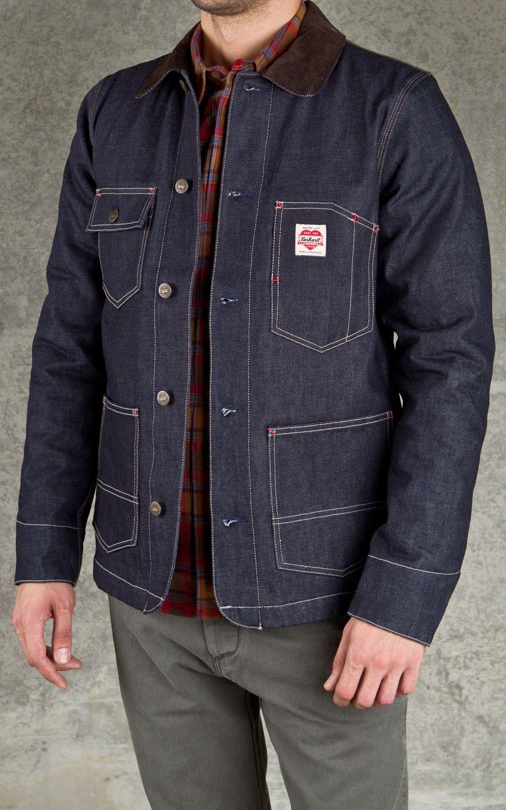 Carhartt State Coat Blue Solch Eine Jeansjacke Wurde Sogar Ich Anziehen Denim Jacket Men Men Casual Mens Outfits [ 1600 x 1000 Pixel ]