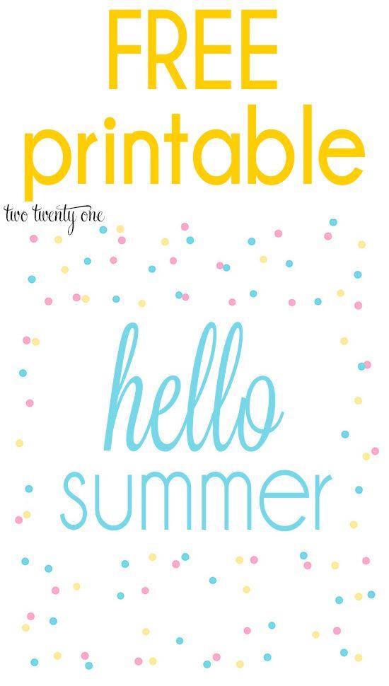 Free Summer Printables Summer Printables Free Summer Printables