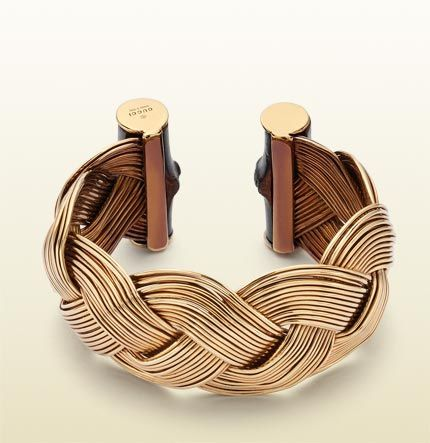 Gucci - bamboo bracelet with woven motif. Could you do this with wire?  Lets see