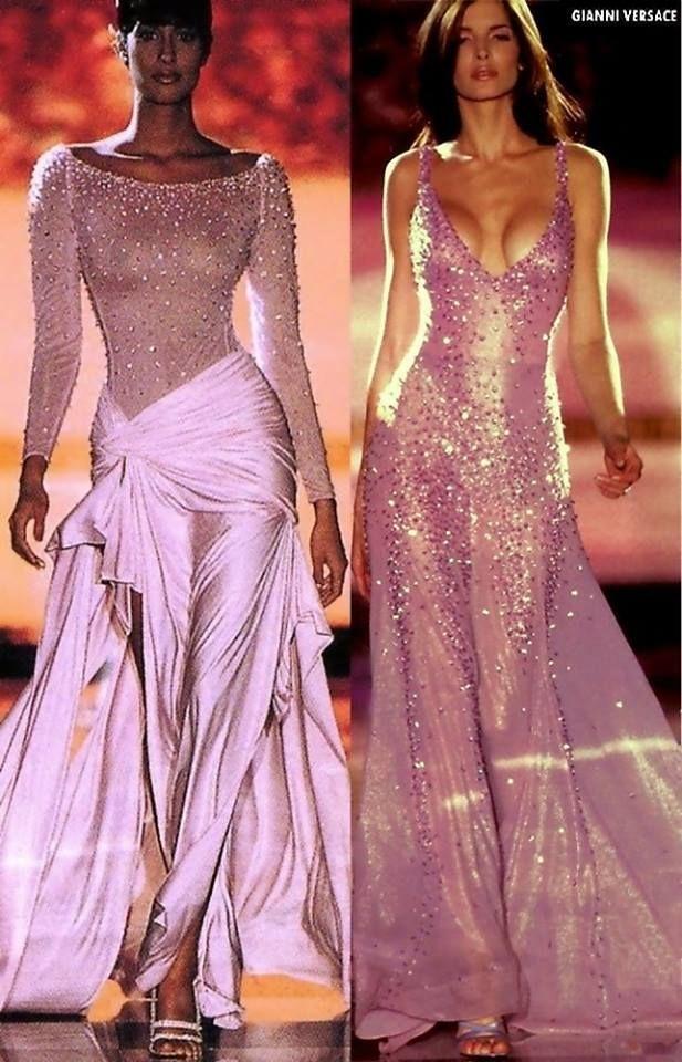 Yasmeen Ghauri and stephanie seymour for Gianni Versace, mid \'90s ...