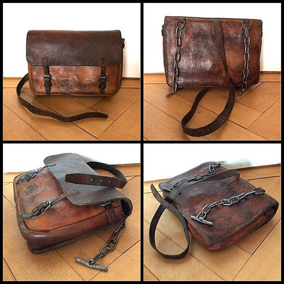 Vintage Swiss Army Connectable Saddle Bags Horse Or Motorcycle Side Bags Of The Swiss Military In The 1930s Biker Bags Saddle Bags Horse Bags Leather Kits