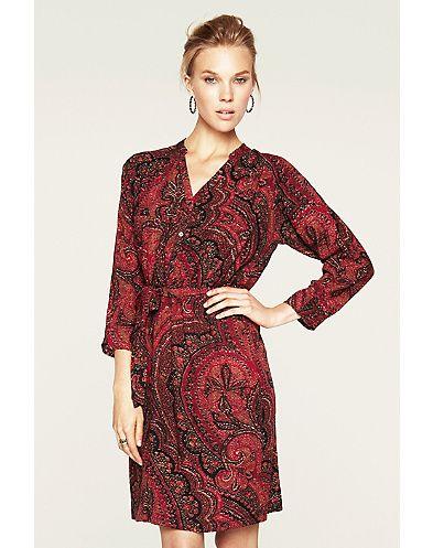 Oriental Rug Shirt Dress-LB