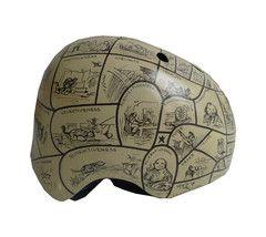 Belle Helmets Hand-Painted Phrenology #bike #chic