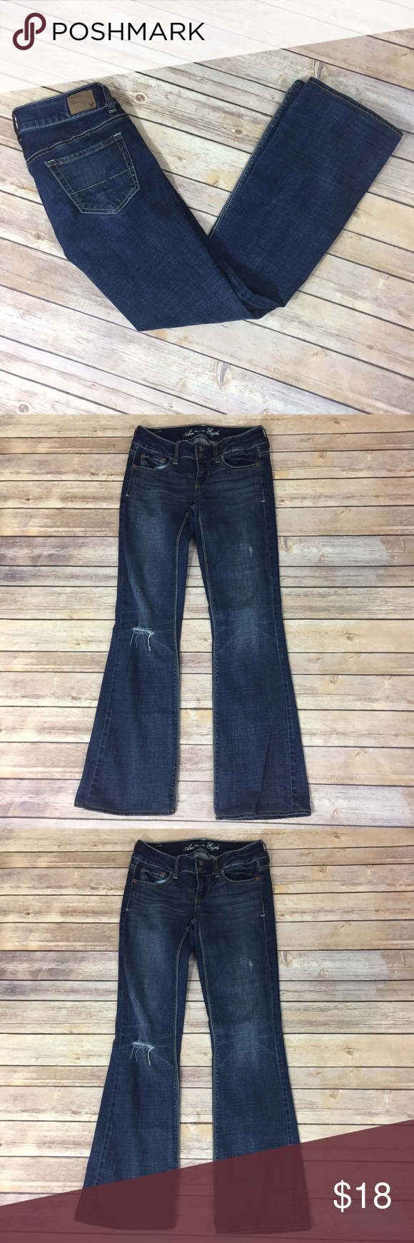 "✨AEO Artist Jeans✨ Stretch. Originally Size 0R, but length has been altered to 28"" inseam. 13"" waist laying flat. 7"" front rise, 11.5"" back rise. 99% cotton 1% spandex.    💕Need any other information? Measurements? Materials? Feel free to ask! 💕Unfortunately, I am unable to model items!  💕Don't be shy, I always welcome reasonable offers! 💕Fast shipping! Same or next day! 💕Sorry, no trades!  Happy Poshing!☺️ American Eagle Outfitters Jeans Boot Cut"