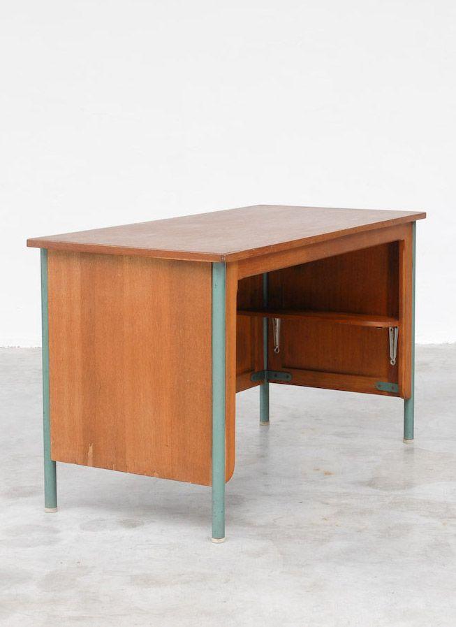 bureau surveillant by jean prouv ca 1950 designed for the lyc e jean prouv in nancy france. Black Bedroom Furniture Sets. Home Design Ideas