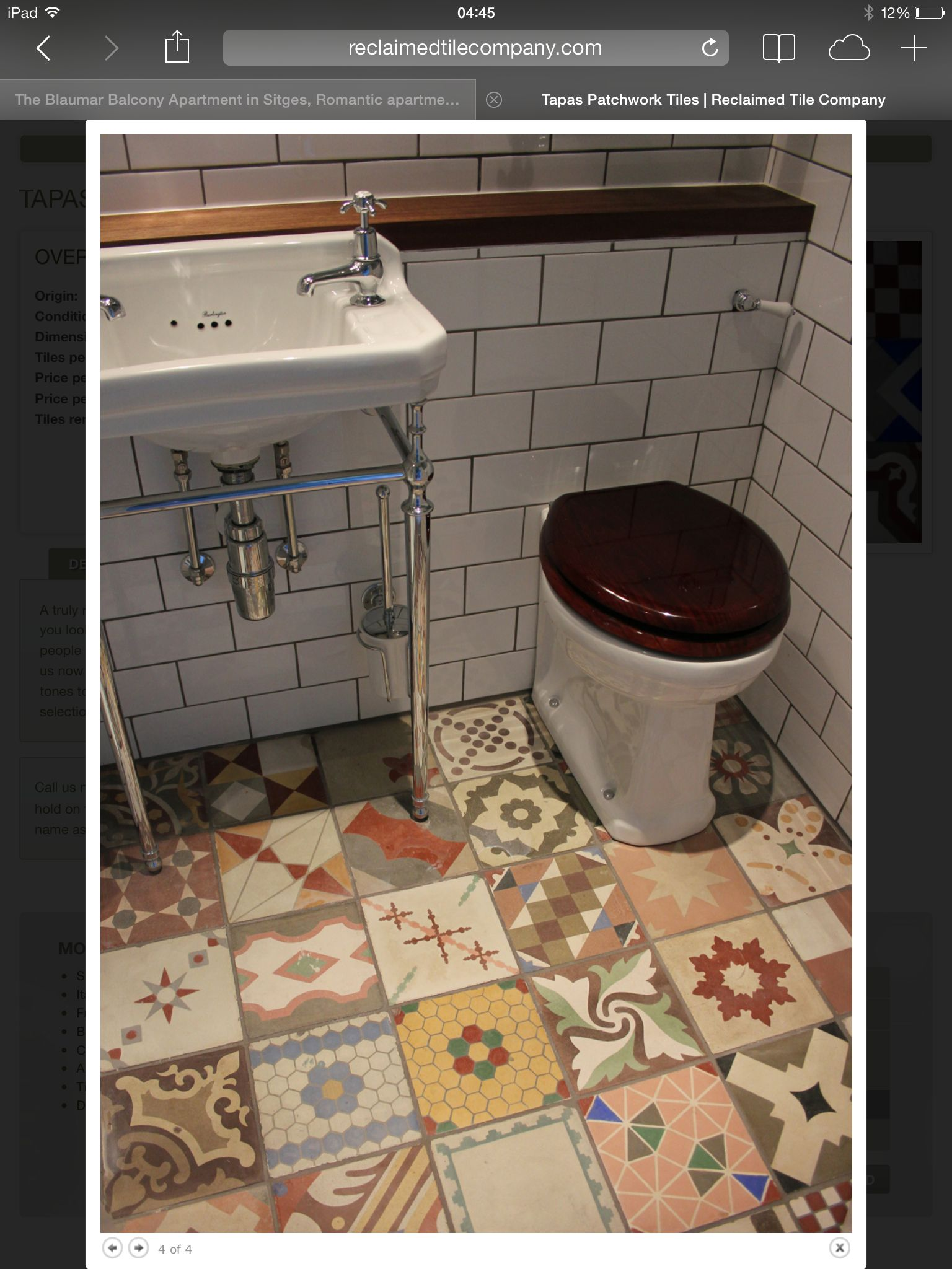 Tapas patchwork tiles from The Reclaimed Tile Company, York. | in ...