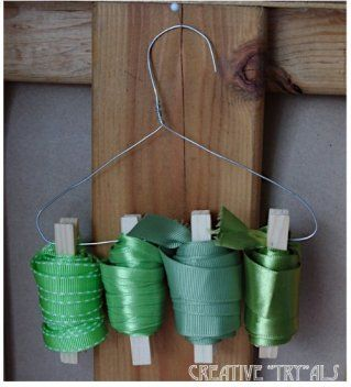 Hang Ribbons for Easy Storage