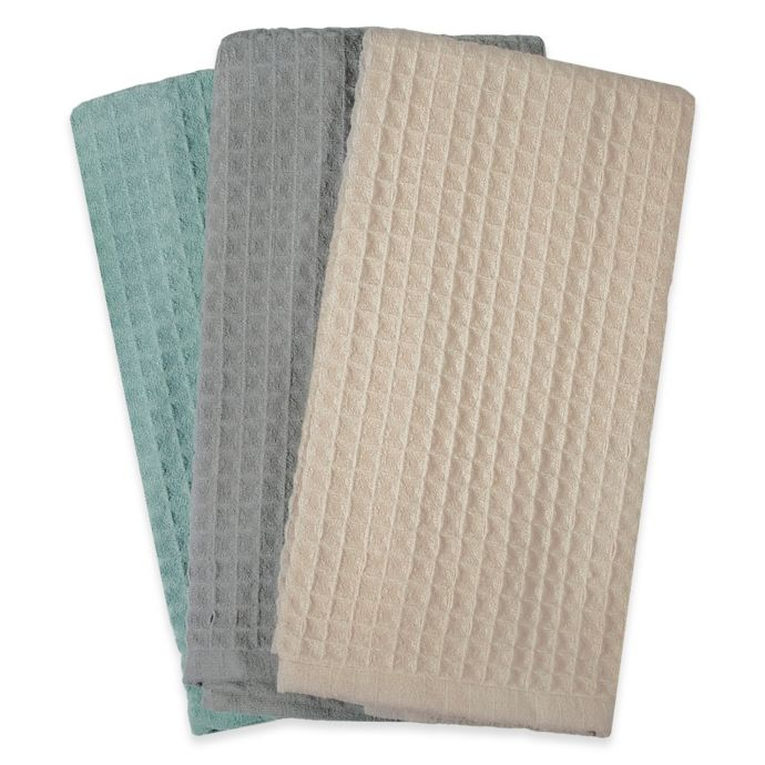 Real Simple Microfiber Kitchen Towels In Multi Set Of 3 Bed