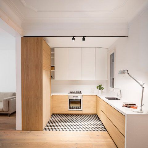 Renovation Alan's Apartament In Barcelona By EO Arquitectura UP Amazing Apartment Kitchen Remodel Minimalist Collection
