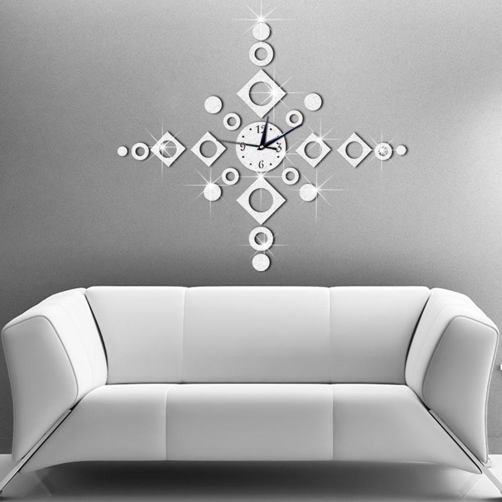 65x65cm home decor big wall clock modern design windbell geometric 65x65cm home decor big wall clock modern design windbell geometric living room quartz decorative designer clocks amipublicfo Images