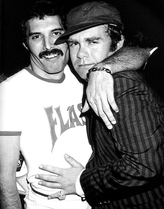 Freddie Mercury and Elton John 1980