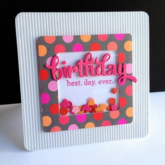 Card Making Inspiration Ideas Part - 25: Shaker Cards #cards #cardmaking #shakercard #colorful #birthday #simple  #scrapbook