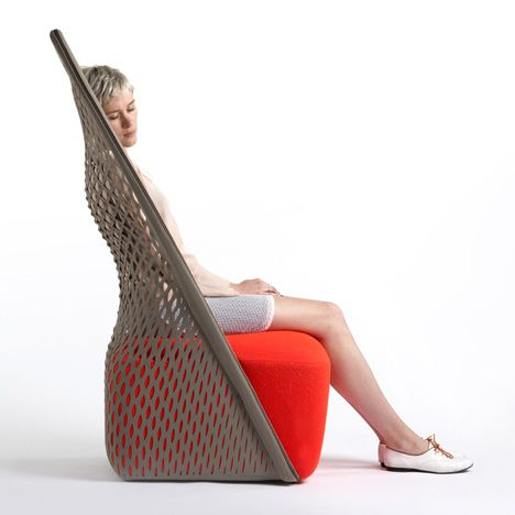 Designer Benjamin Hubert Has Created A Chair With A Hammock Like Back For  Italian Furniture
