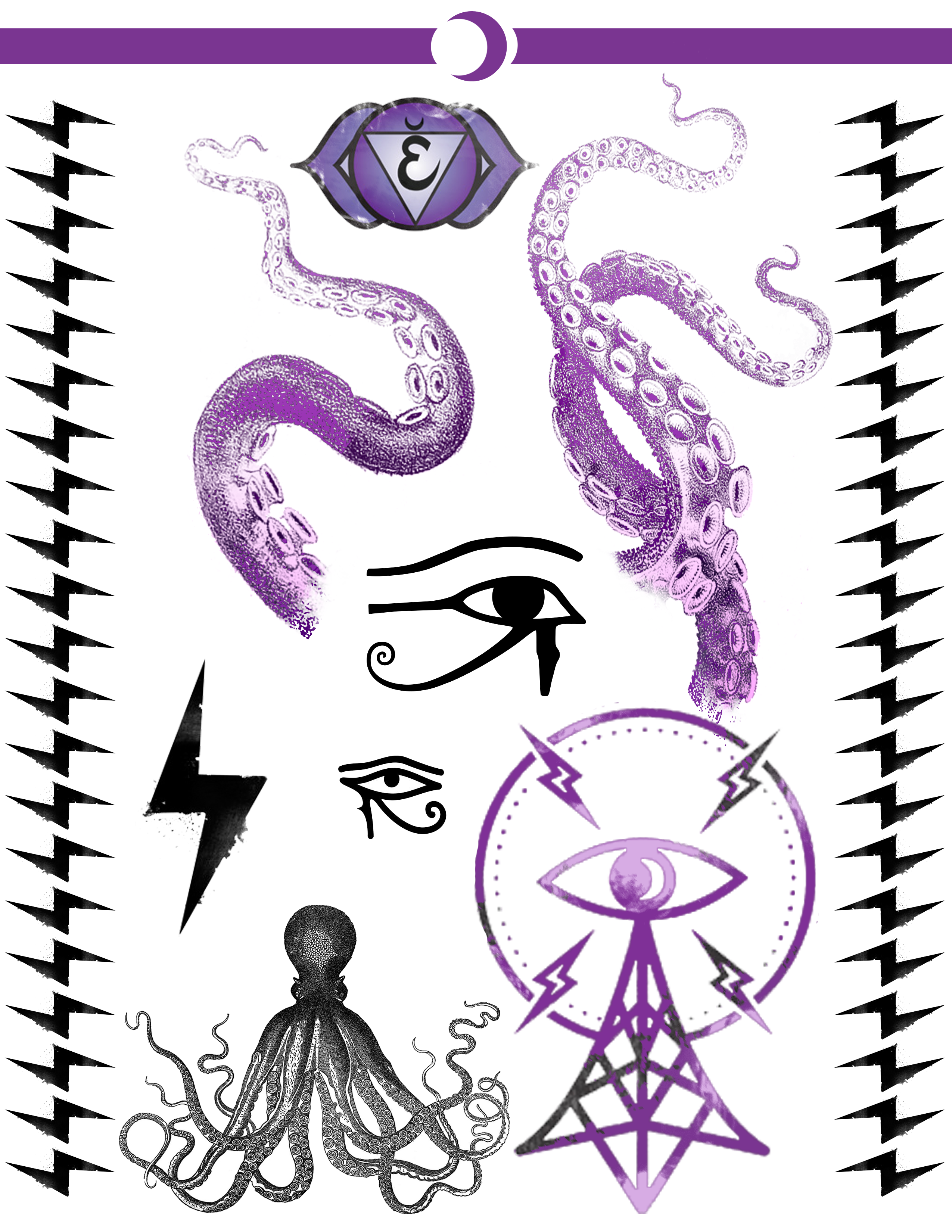 Arm Tattoo Sheet Created For My
