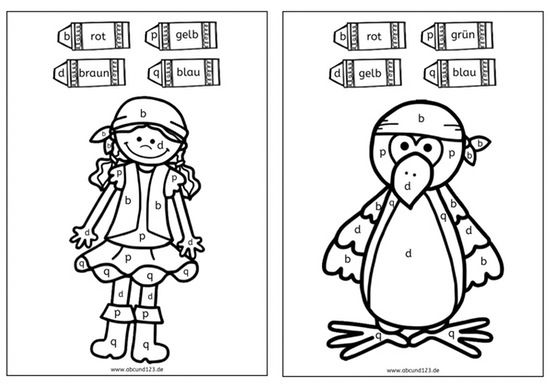 Piraten - Malen nach Buchstaben - | Malvorlagen kostenlos ...