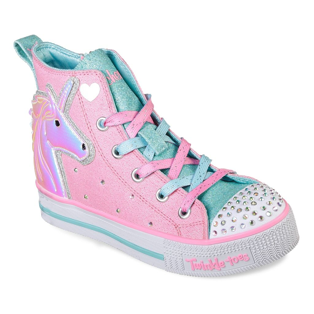 5a7d5311c49 Skechers Twinkle Toes Twinkle Lite Unicorn Friends Girls  Light Up High Top  Shoes