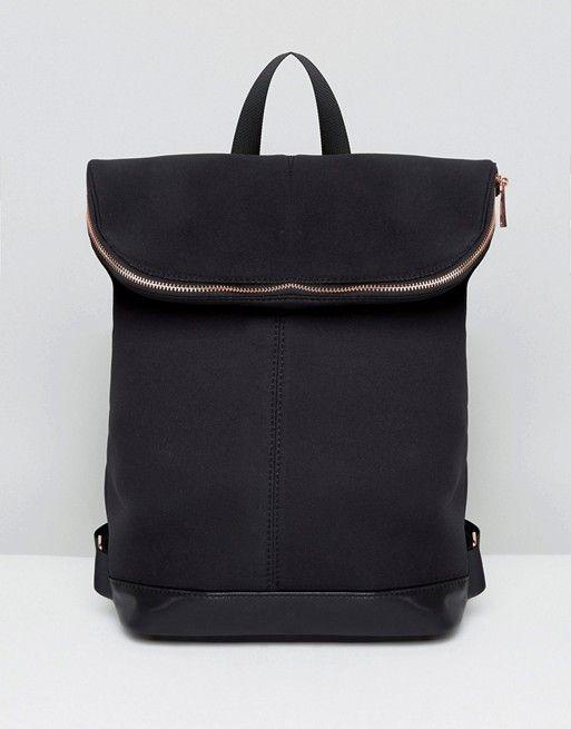 772481e9e DESIGN - Zaino scuba con zip oro rosa | Backpack