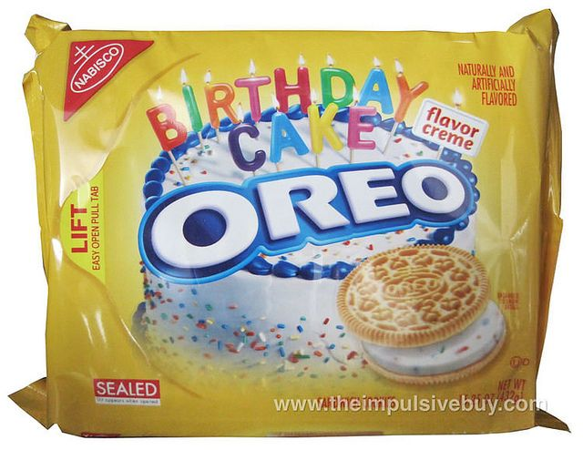 Review Birthday Cake Golden Oreo Oh Oh Oh Oreo Pinterest