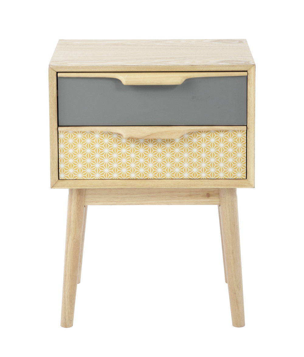 Vintage bedside table ideas - Discover Maisons Du Monde S Wooden Vintage Bedside Table With Drawers W Browse A Varied Range Of Stylish Affordable Furniture To Add A Unique Touch To Your
