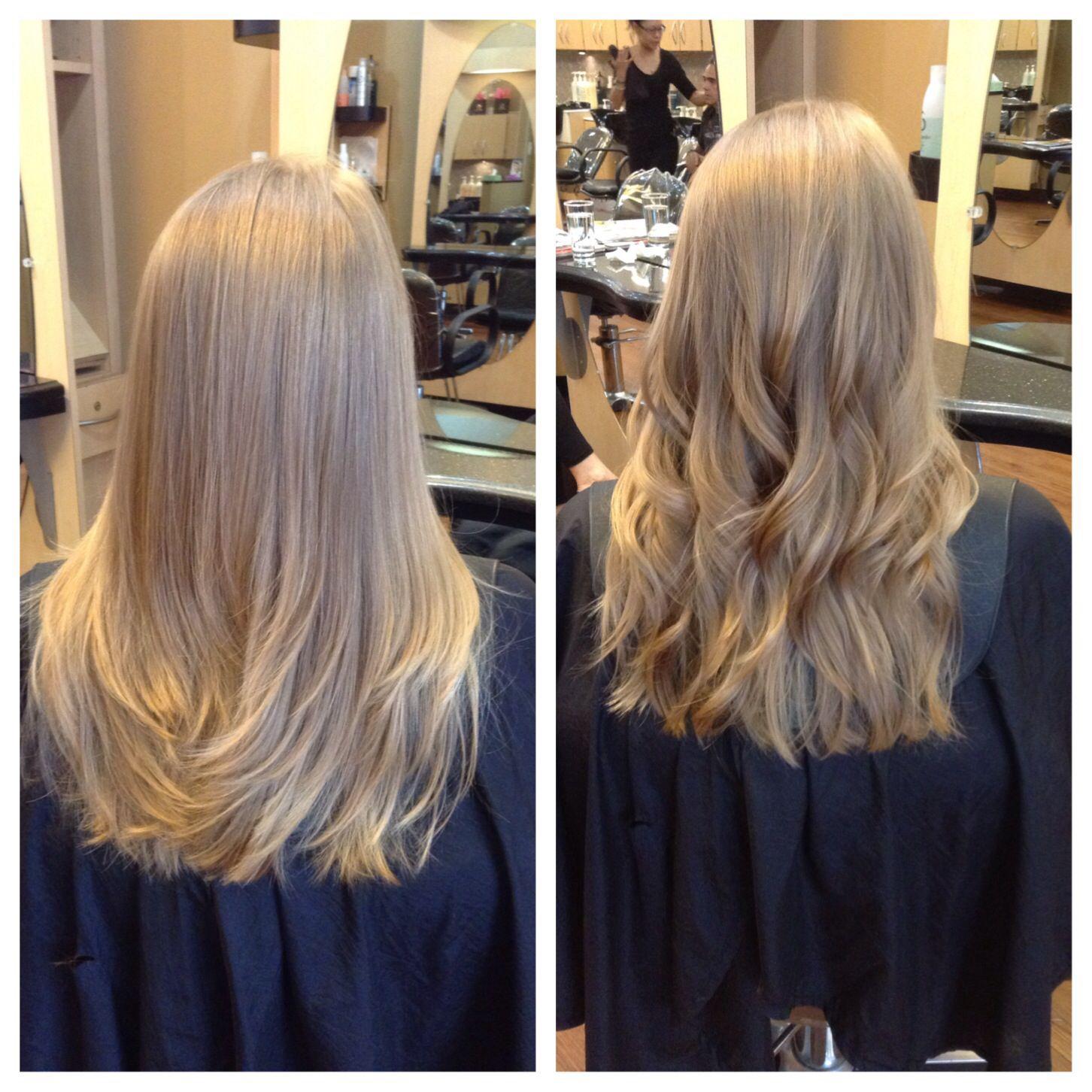Long layered razor cut - straigh vs wavy