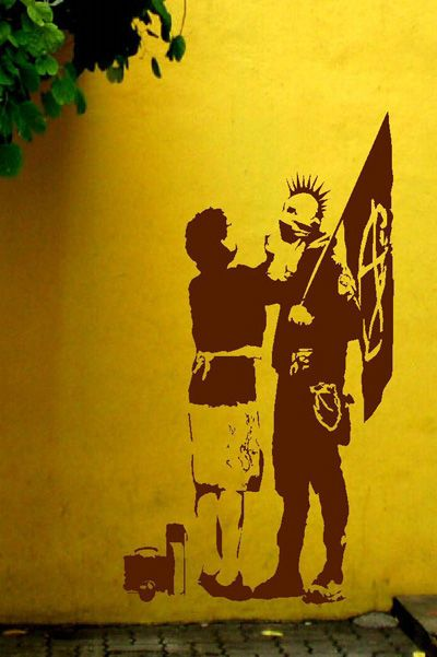 Banksy Mom Punk Crass Wall Mural #Street_Art