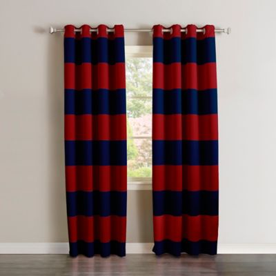 Decorinnovation Rugby Stripe 84, Rugby Stripe Curtains
