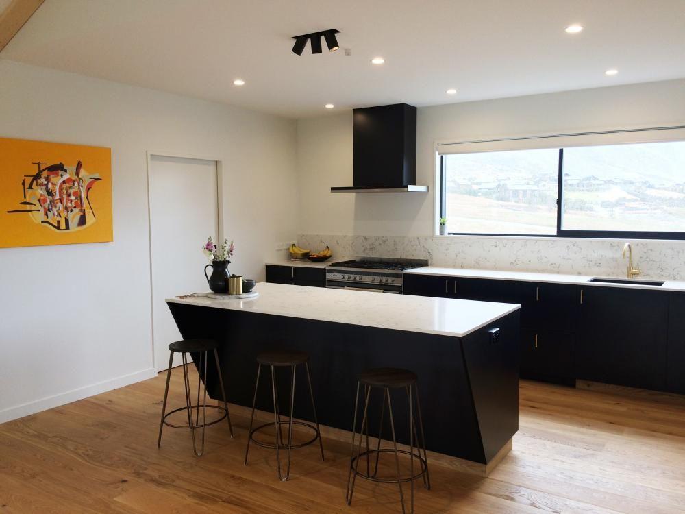 kitchen, designer, interior design, marble, brass, wooden floor ...