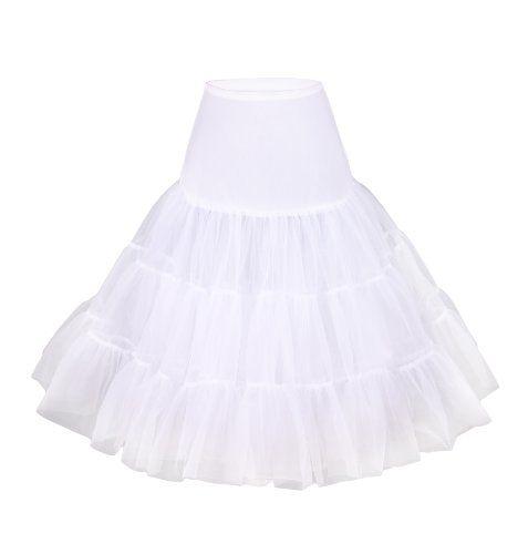 """Rockabilly Petticoat, 25"""" Length Net Underskirt (XSmall"""
