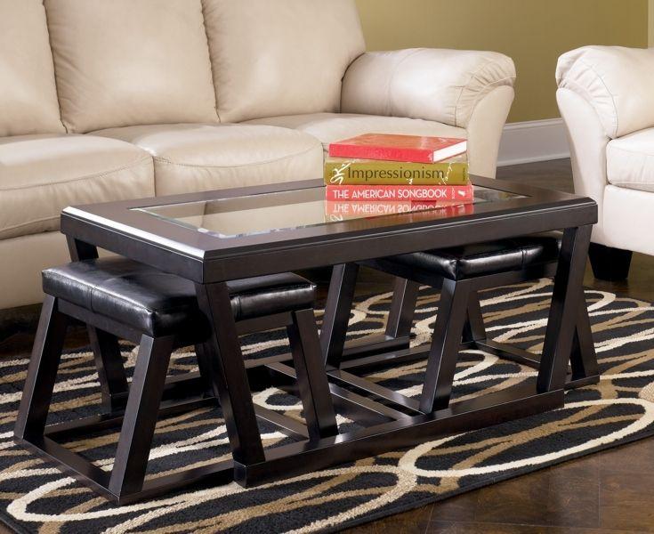Ashley Kelton Coffee Table with 2 Stools | Furniture | Pinterest