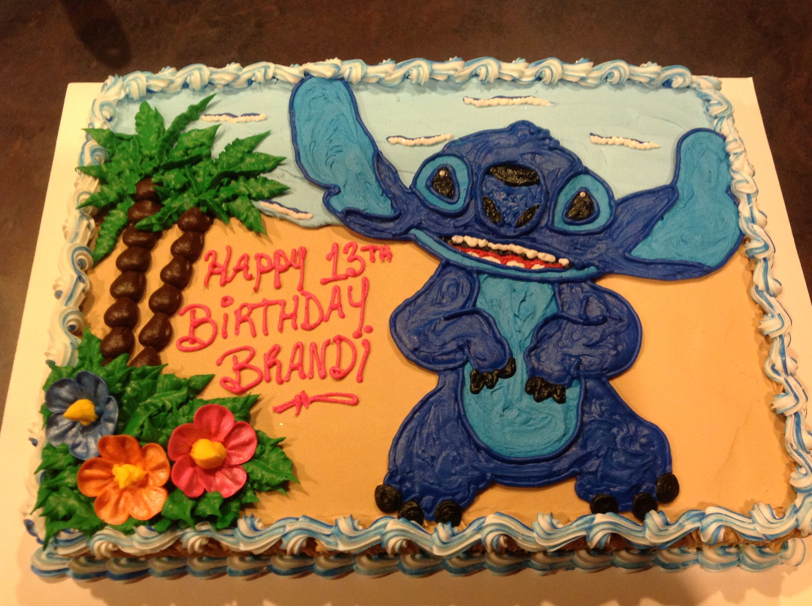 Lilo Stitch Lilo And Stitch Cake Stitch Cake Birthday Sheet