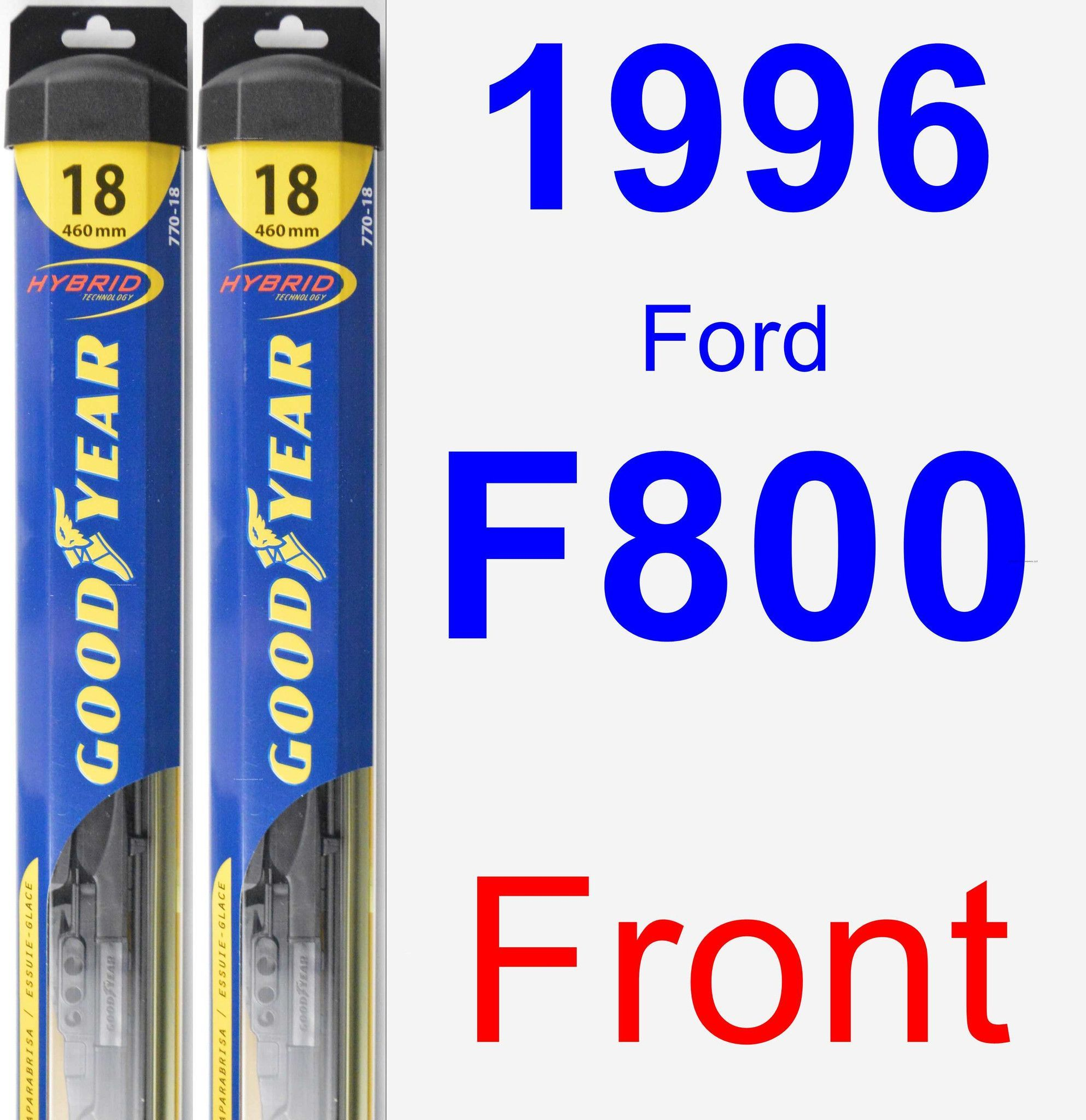 Front Wiper Blade Pack for 1996 Ford F800 - Hybrid