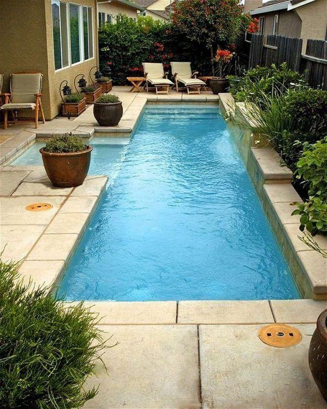 50 Stunning Tropical Home Design With Mini Pool Small Pool Design Small Backyard Pools Swimming Pools Backyard