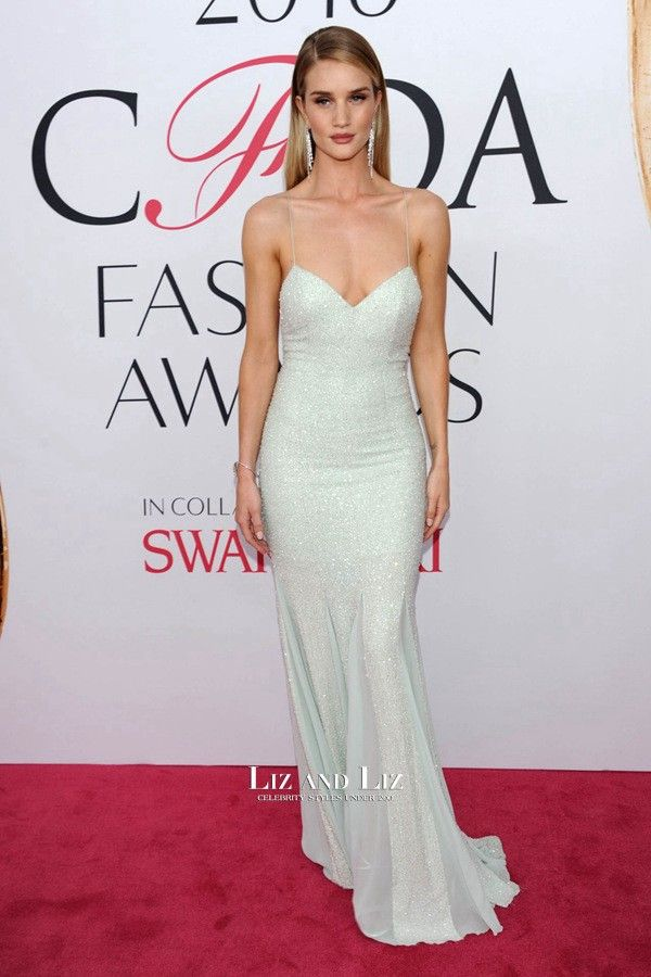 Rosie Huntington-Whiteley Sequin Prom Dress CFDA Fashion Awards 2016 ... fc821e61b4e2