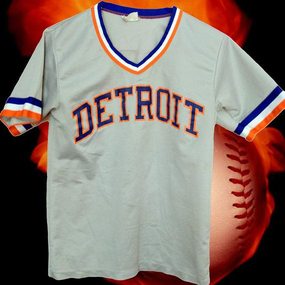 official photos b7edc 9f437 VINTAGE DETROIT TIGERS jersey thing on Etsy, $25.00 | Need ...
