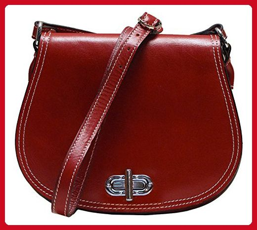 d2fefe7b1007 Floto Women s Saddle Bag in Red Italian Calfskin Leather - handbag shoulder  bag - Shoulder bags ( Amazon Partner-Link)