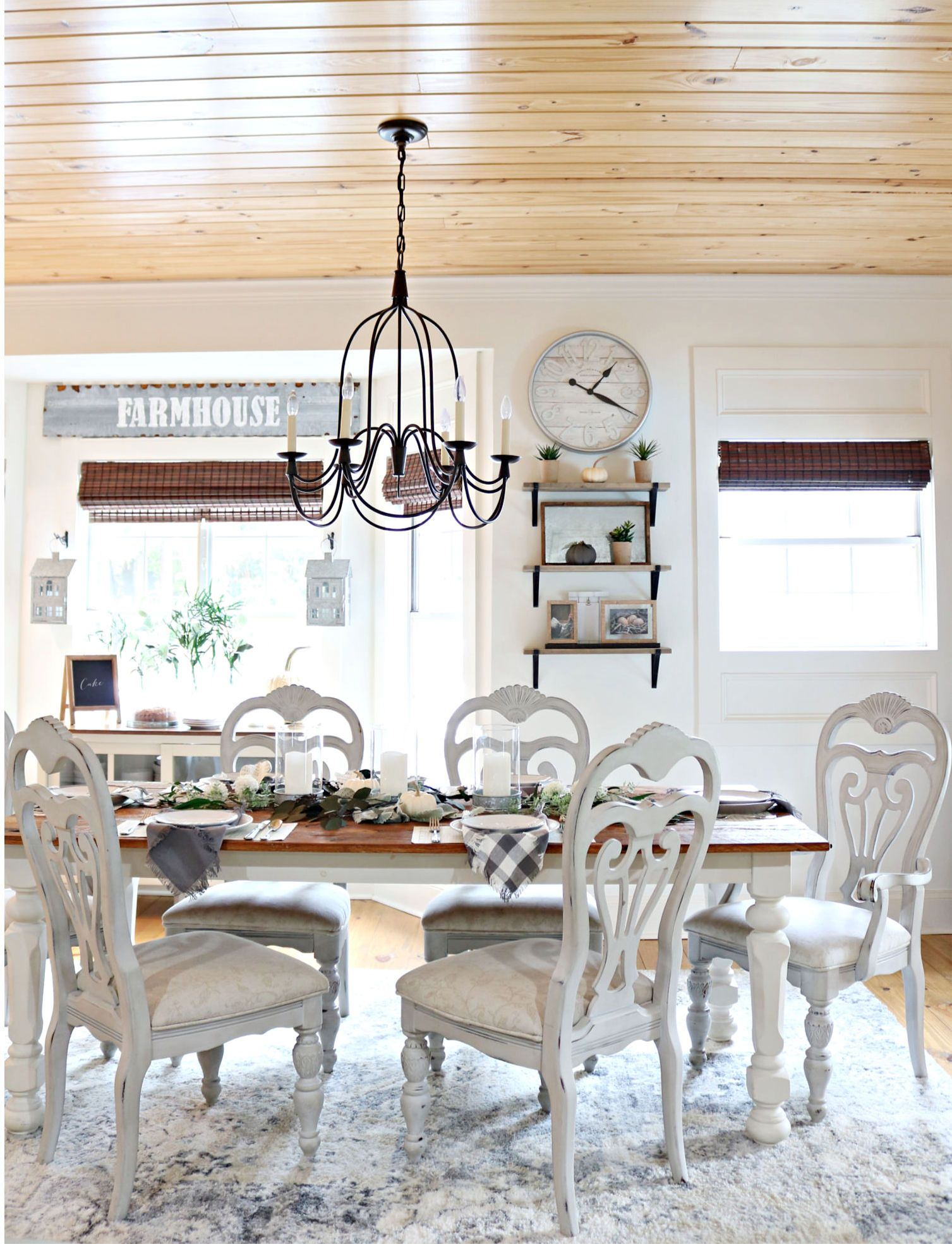 FARMHOUSE DINING ROOM cozy & affordable decor Dining