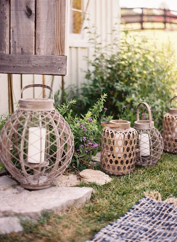 Exceptional Outdoor Wedding Reception Decorations Wire Candle Lanterns