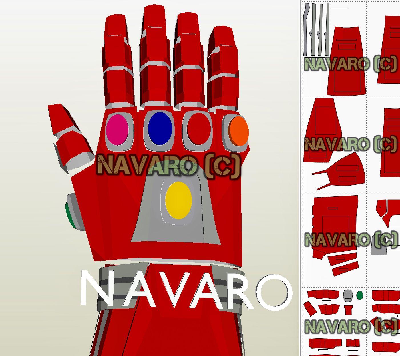 Infinity Gauntlet Pattern Endgame Csoplay Iron Man Gauntlet Iron Man Helmet Iron Man Cosplay Deathstroke Cosplay