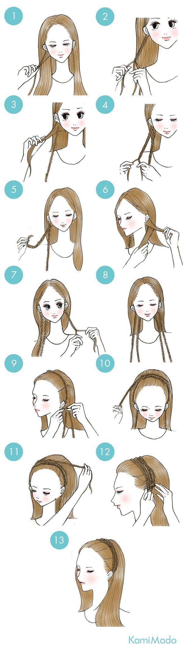 Cute and small braid crown. -- Hair, haistyles, easy, do it by yourself, prom, back to school, date, fancy, party
