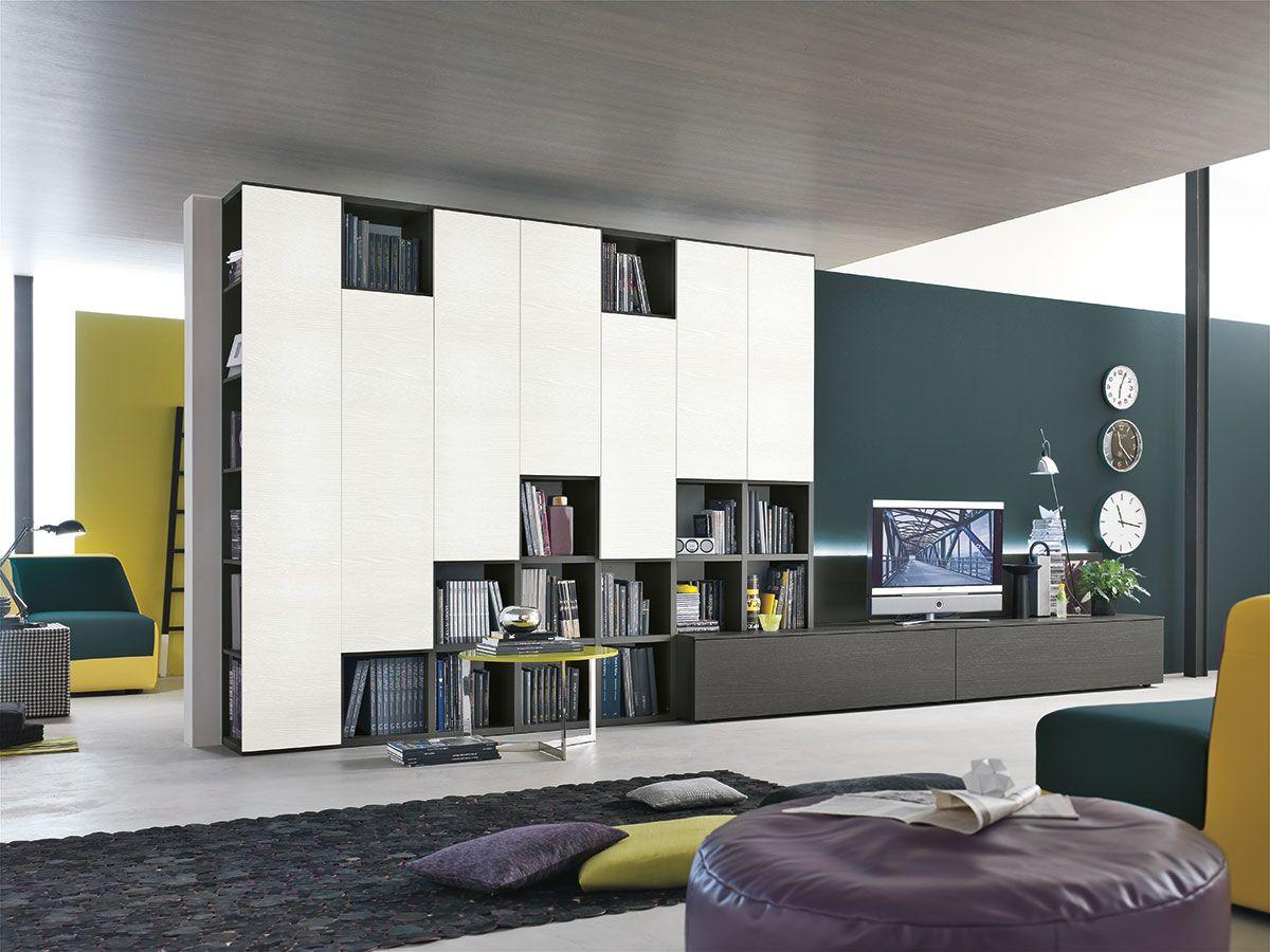 parete attrezzata per #soggiorno moderno atlante c305 ... - Parete Attrezzata Moderno