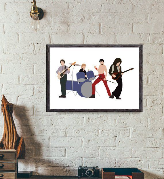 Queen Band Line Up Minimal Style