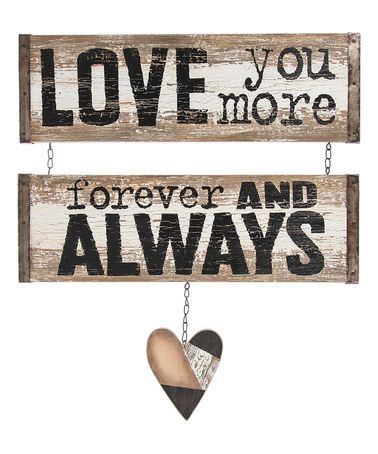 Loving this 'Forever And Always' Wall Plaque on #zulily! #zulilyfinds