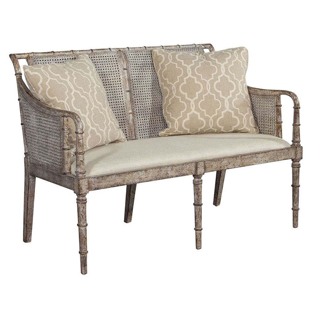 Distressed Cane Settee