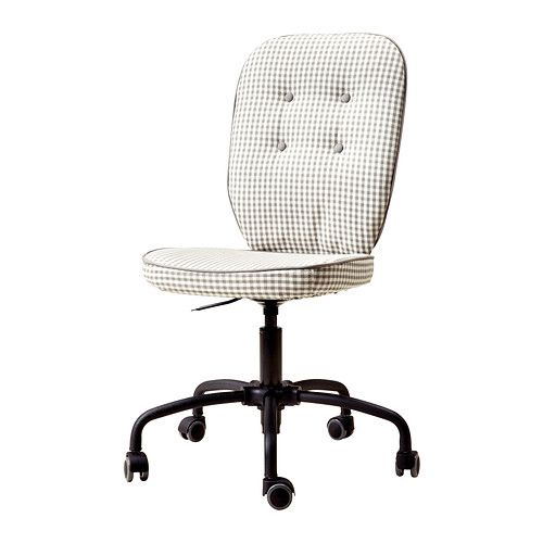 LILLHÖJDEN Swivel chair - Idemo grey patterned - IKEA | Furniture ...