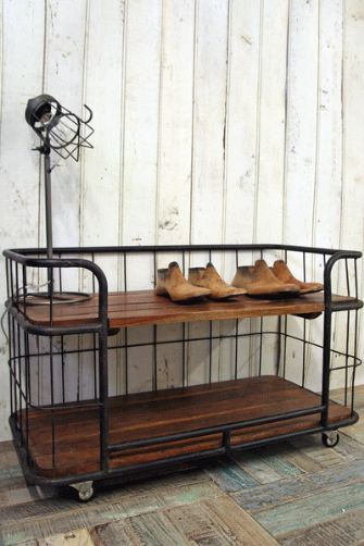 I Want One Of These Rockett St George Industrial Factory Shelving Units In My Porch Shoes Top Shelf Dog Bott Mobilier De Salon Idees Etageres Deco Interieure