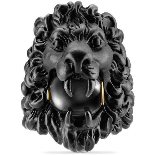 d65bbd9207c0c1 Gucci Lion Head Ring With Glass Pearl ( 390) ❤ liked on Polyvore featuring  jewelry