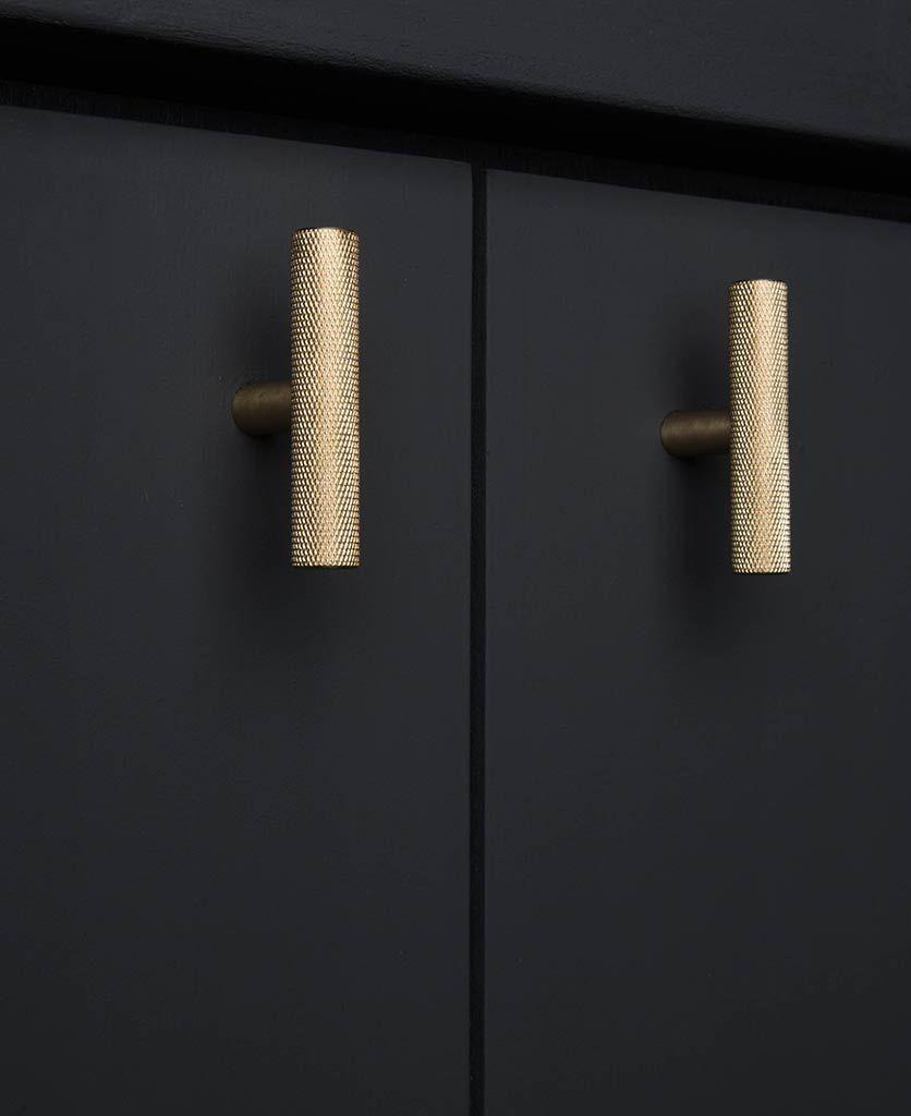 Skyscraper T Bar Knurled Kitchen Door Handle Available In 4