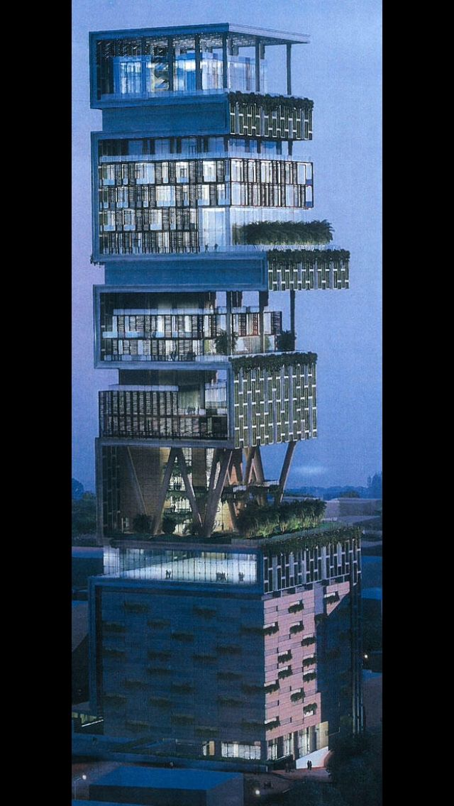 Indian Billionaire, Mukesh Ambani Has Finished Building His New Home In  Mumbai, India Costing To About 1 Billion Dollars. Yes The Home Has Cost  Ambani 1 ...